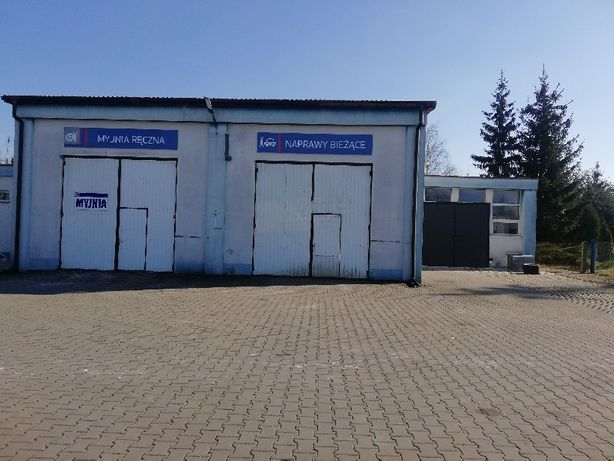 Garaż pod mechanikę z wyposażeniem szatnia łazienka/Magazyn/Lakiernia