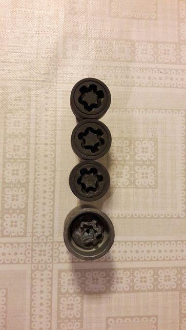 3 болта секретки М14×1,5×27 м14 для audi vw seat skoda для колес