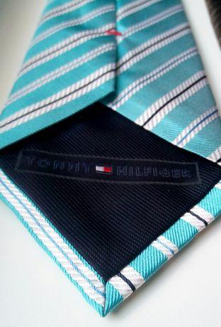 Шелковый итальянский галстук Tommy Hilfiger (Made in Italy)