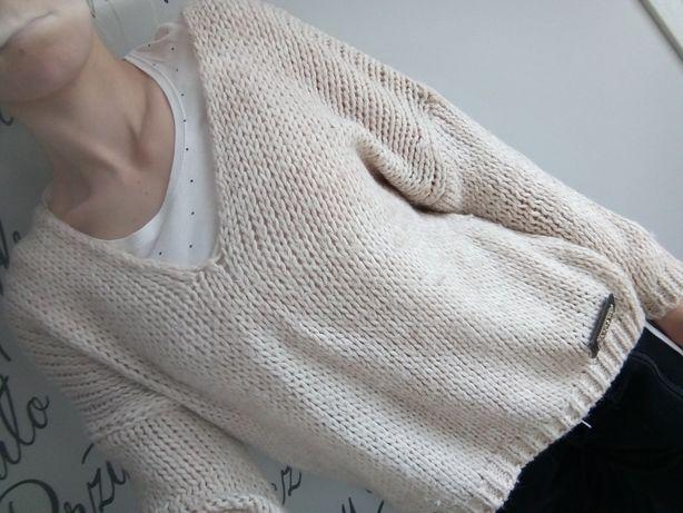 Swetr, sweterek, bluza,pleciony,ażurkowy,wiosenny,jesienny,przejściowy