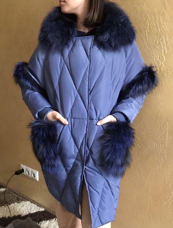 Новая куртка с натуральным мехом