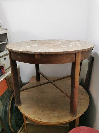 Stary rozkładany stół