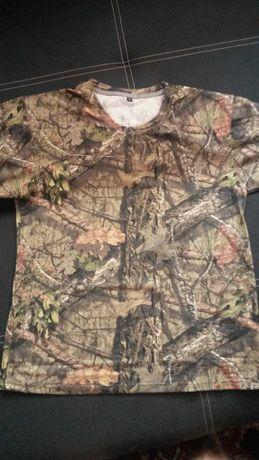 T-shirt koszulka wędkarska, myśliwska, leśne camo mossy oak XL