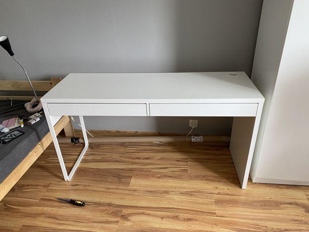 Biurko białe z IKEA 142x50 cm