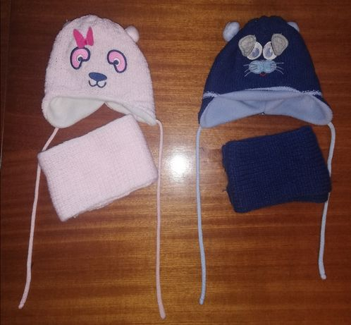 Komplet czapka i szalik dla niemowlaka