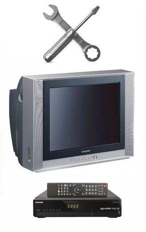 Ремонт телевизоров, настройка спутникового ТВ и Т2