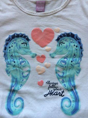 Komplecik leginsy + bluzeczka z modnym KONIKIEM MORSKIM