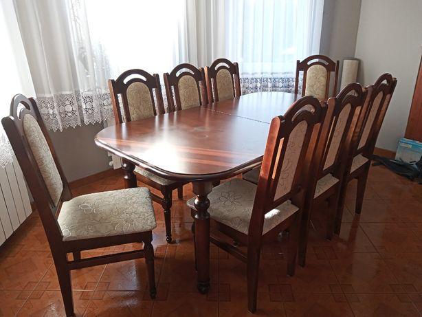 Komplet stół + 8 krzeseł