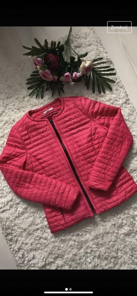 Różowa kurtka wiosenno jesienna