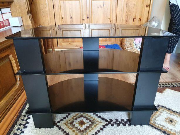 Czarna szafka pod telewizor szklana