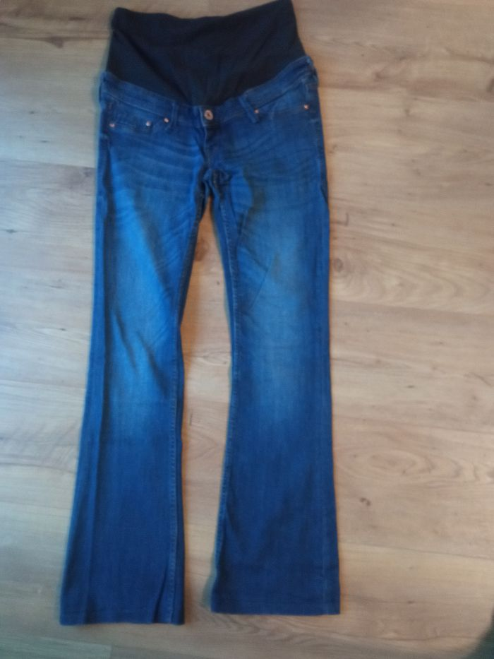 Jeansy ciążowe ciemnoniebieskie rozmiar 36, spodnie ciążowe H&M Rybna - image 1
