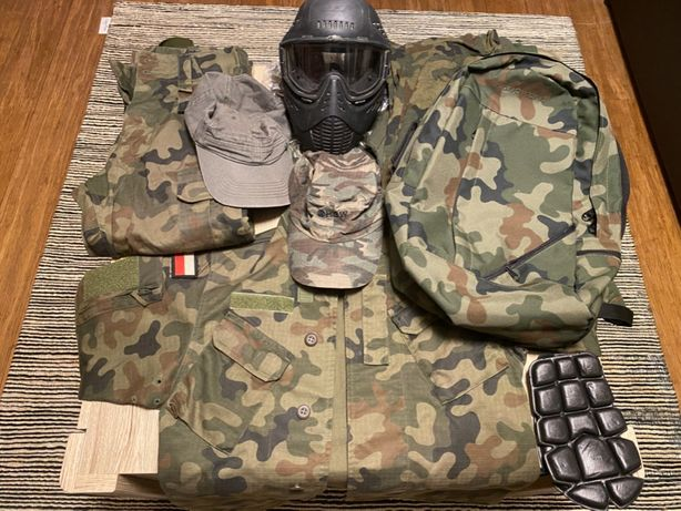 Maska paintball, mundur WP moro, plecak moro, koszulki moro, czapki