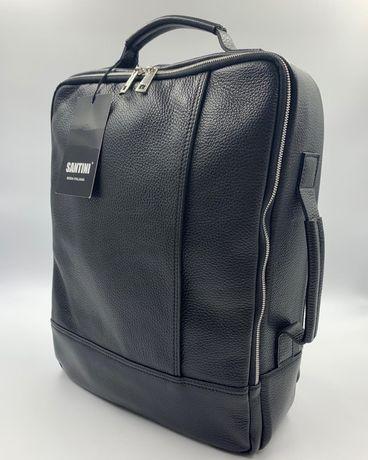 Мужской итальянский кожаный рюкзак-сумка