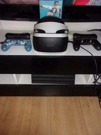 PlayStation PS4 PRO | VR | 2 pady | kamera | stacja dokująca | 58 gier