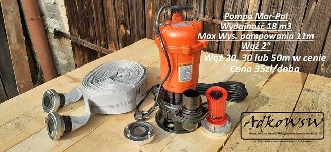 Pompa Mar-Pol 18m3/h max wysokość 11m. Wynajem