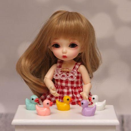 Akcesoria dla lalek BJD mini kaczuszki zestaw 5szt kolorowe