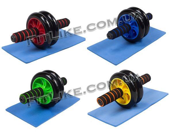 Гимнастический ролик, колесо для пресса двойной Ab Wheel Double
