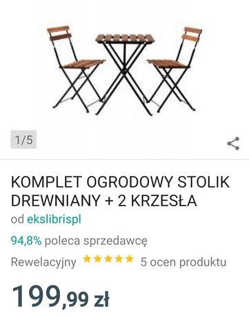 Nowy zestaw stolik 2 krzesla