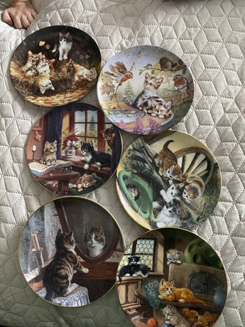 Тарелка с котом винтаж