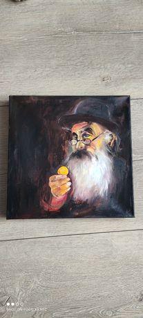 Obraz malowany ręcznie Żyd 29x29cm