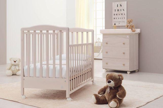Комплект детской мебели кроватка+пеленальный комод Italbaby Euro ivory