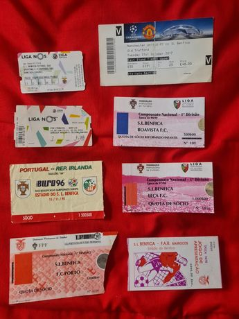 Bilhetes do Benfica Anos 80/90