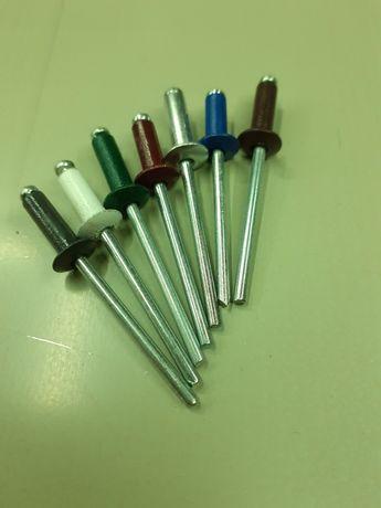 Заклёпки вытяжные алюминиевые диаметром 4 мм