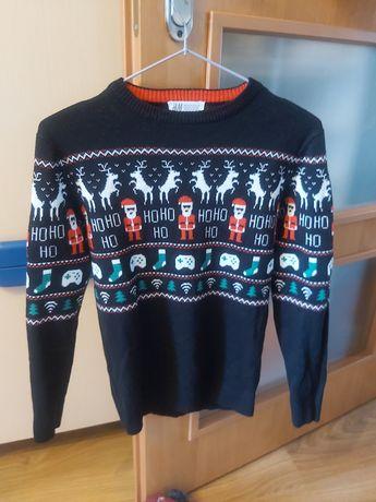 Sweter świateczny H&M rozmiar 146/152 dla chłopca chłopięcy