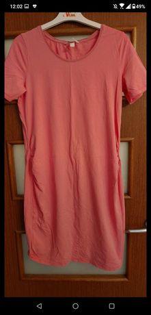 Ciążowa sukienka różowa rozm M H&M