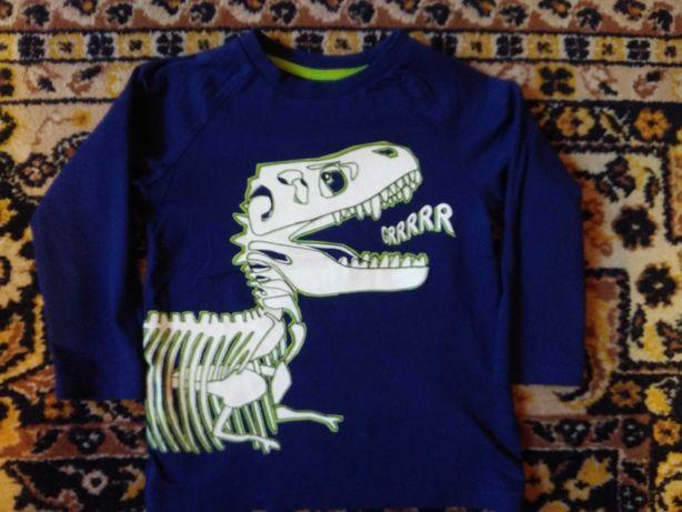 Bluzki, koszulki chłopięce H&M, F&F, Cool Club, Lupilu r98/104 i 104.