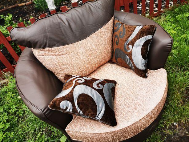 Fotel skórzany obrotowy nowy