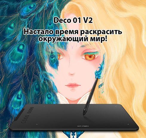 Графический планшет XP Pen Deco 01 V2 / 8192 уровней / для рисования н