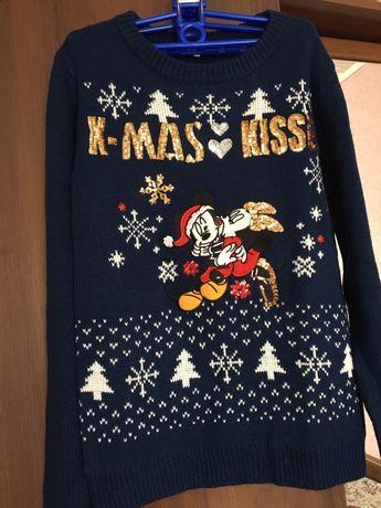 Кофта C&A, свитер новогодний, новорічна кофта
