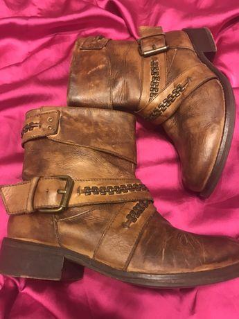 Стильные ботиночки.  Натуральная кожа