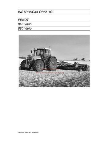 Instrukcja obsługi ciągniki Fendt 818-820-Vario jz. polski