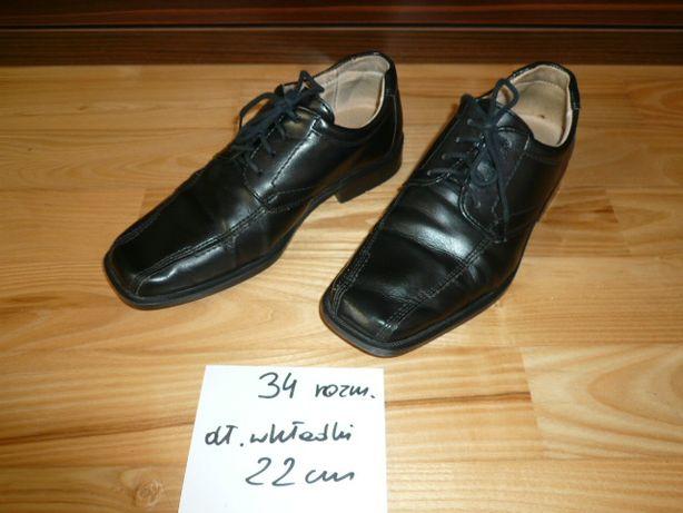 Buty chłopięce eleganckie wizytowe, skóra, rozm 34