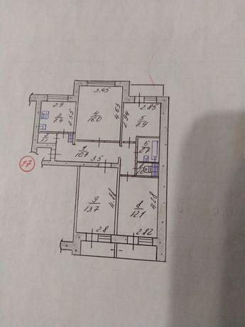 Продам 3 комнаты в 4-х комнатной квартире