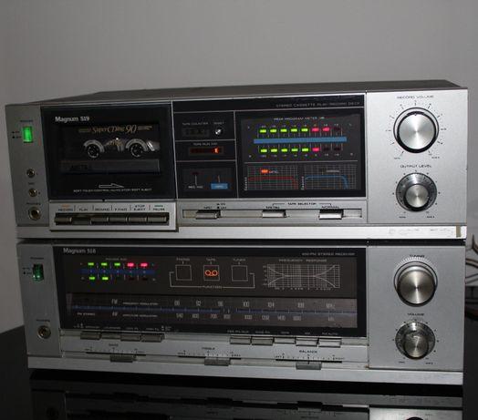 MAGNUM Zestaw audiofilski amplituner wzmacniacz + deck vintage Wysyłka