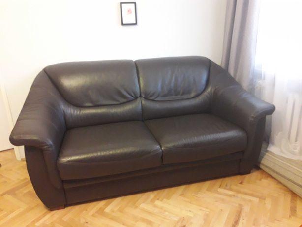 Zadbana sofa skórzana - Meble Bydgoskie