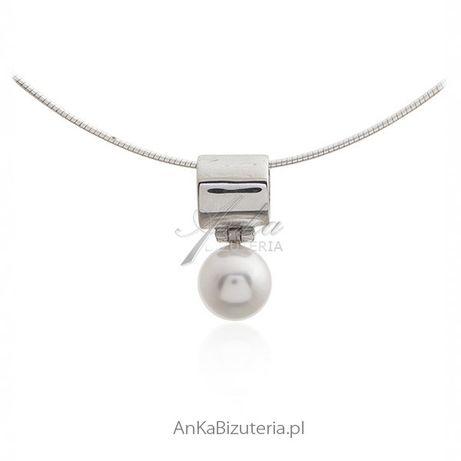 ankabizuteria.pl awangardowa bizuteria Zawieszka srebrna z perełką - K