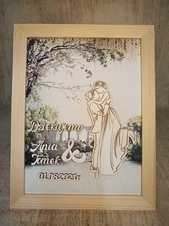 obraz podziękowanie ślub, wesele