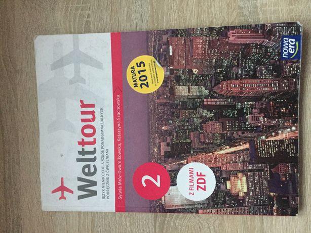 Podręcznik z ćwiczeniami do języka niemieckiego Welttour 2 Nowa Era
