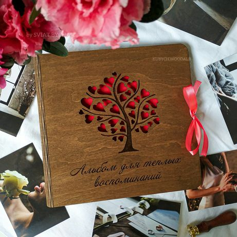 ТОП! Фотоальбом из дерева - подарок на годовщину любимым + СКИДКА! ЖМИ
