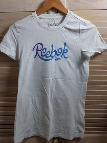 koszulka REEBOK biała t shirt sportowy