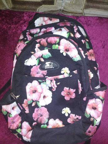 Plecak w kwiatki