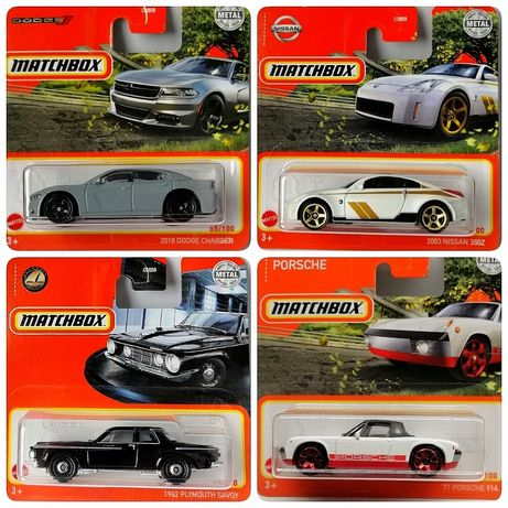 Matchbox 71 Porsche 914 Plymouth Savoy Nissan 350Z Dodge Charger