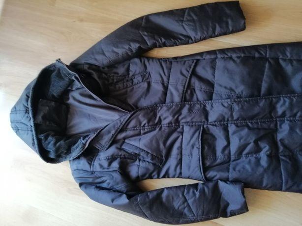 Płaszcz, przejściowy, roz 38 , taliowany, brązowy,