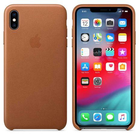 Capa Pele Apple para iPhone XS Max - Saddle Brown