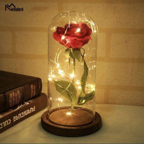 Роза в колбе с LED подсветкой Подарок Маме, Жене, Сестре 8 Марта
