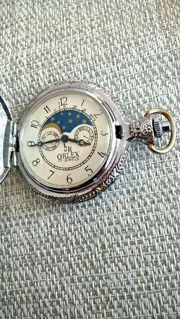 JR ORLEX męski mechaniczny kieszonkowy zegarek